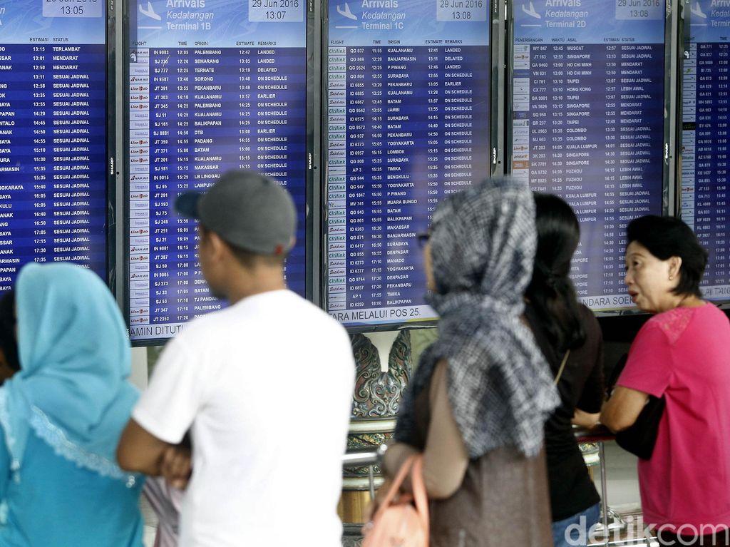 Sistem IT Sempat Down, Ada Antrean Panjang Check In di Terminal 3 Soetta