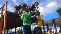 Sepeda Motor Pemudik Mulai Tiba di Solo