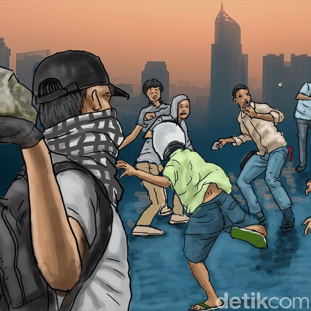 Akibat saling Ejek, Tawuran Remaja Pecah di Tambora Jakarta Barat