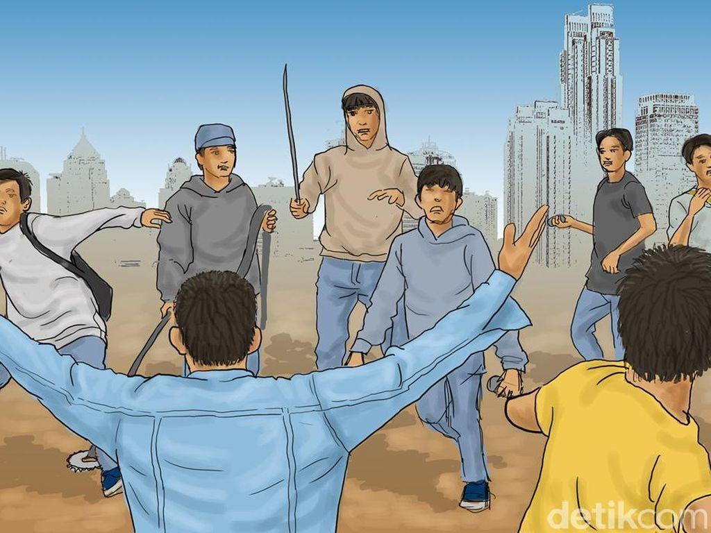 Massa Perusak Lapak-Kios di Kampung Bahari Jakut Sempat Lempari Polisi