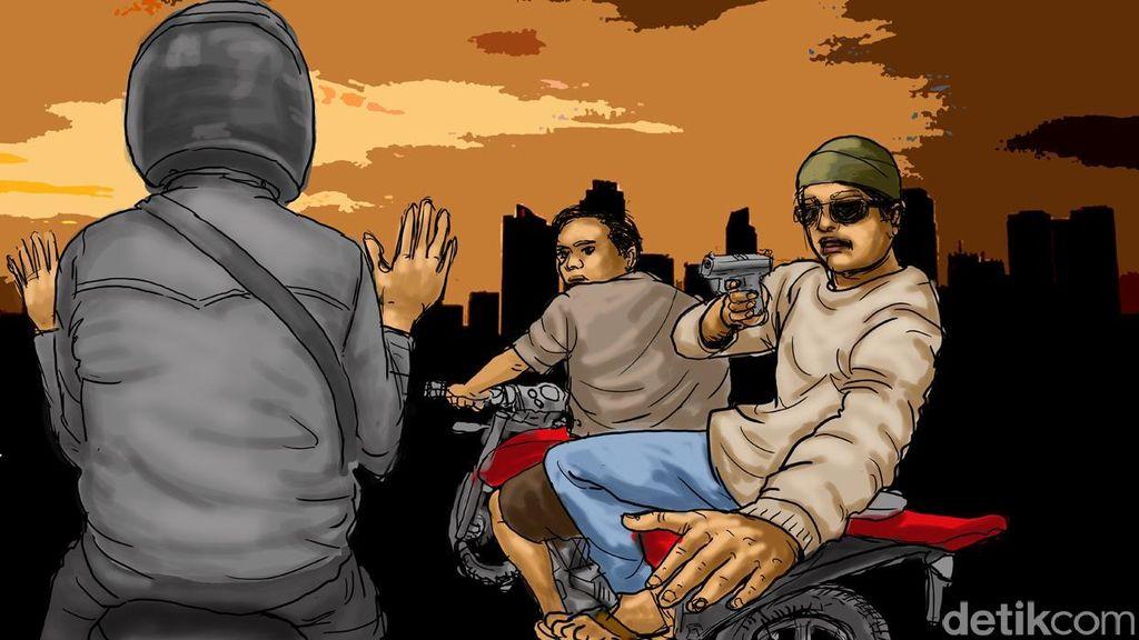 Polisi Tembak Mati Begal Berpistol di Bekasi