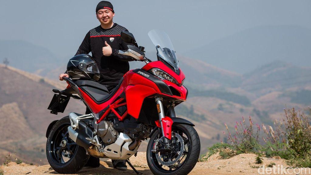 4 Ducatisti Naik Motor dari China Menuju Italia Demi World Ducati Week