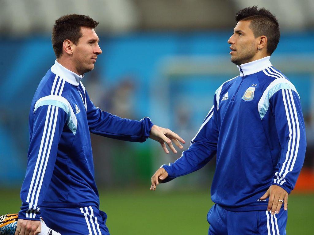 Begini Solidernya Aguero pada Messi