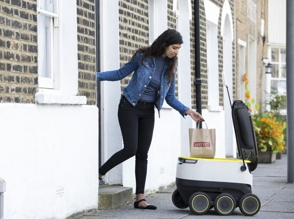 Robot Layan Antar Makanan akan Diuji Coba di London