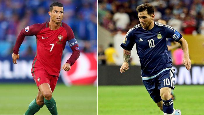 MeMenantikan kiprah Messi dan Ronaldo di Piala Dunia 2018. Foto: Ronaldo (Clive Brunskill/Getty Images), Messi (Kevin Jairaj-USA TODAY Sports)