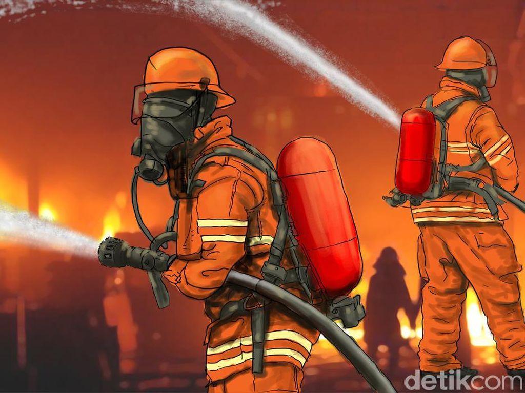 Apartemen di Cakung Jaktim Terbakar, 10 Unit Damkar Dikerahkan