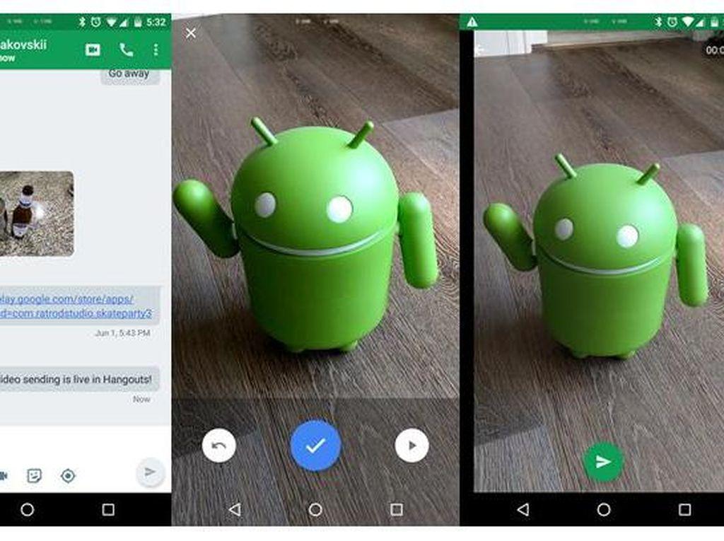 Hangouts di Android dapat Fitur Pesan Video