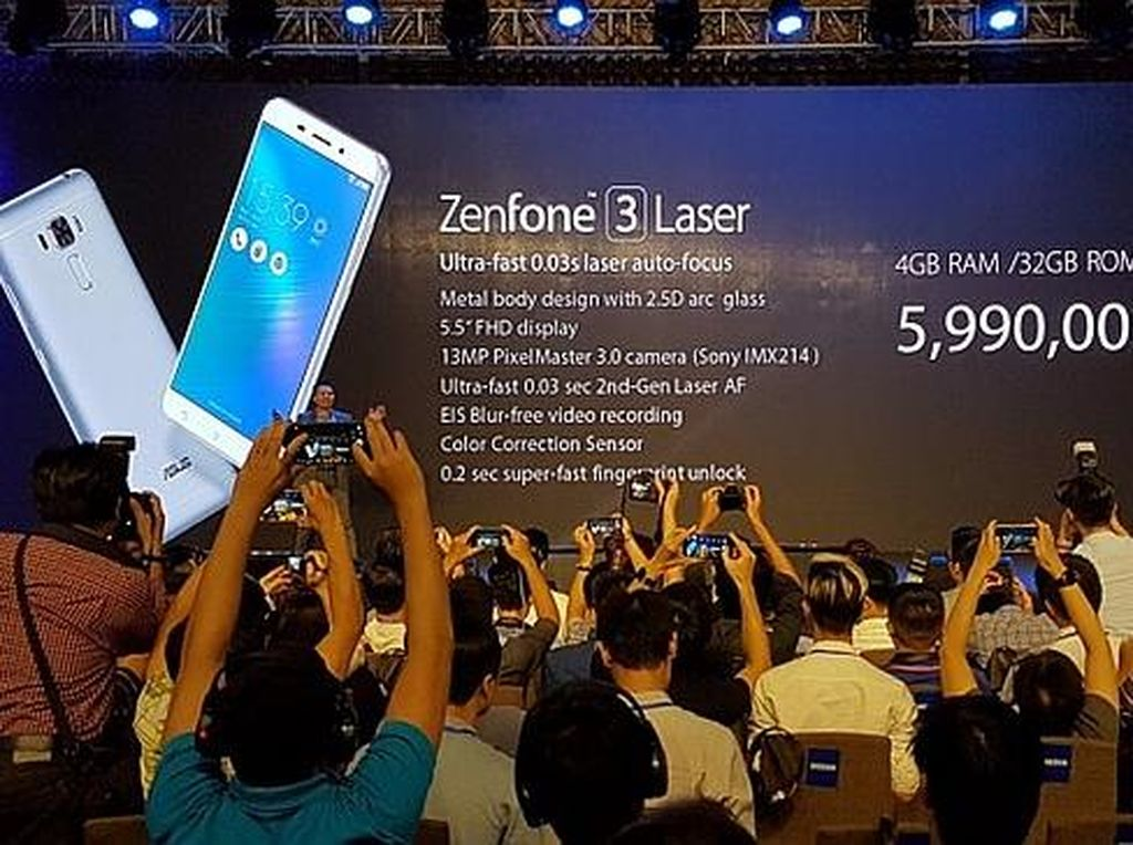 Asus Rilis Zenfone 3 Laser & Max