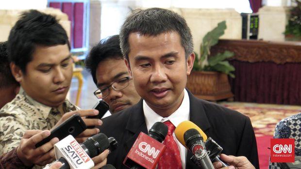 Kepala Biro Pers, Media dan Informasi Bey Machmudin mengatakan, permainan Pokemon Go dilarang dimainkan di Kompleks Istana Kepresidenan. (CNN Indonesia/Christie Stefanie)