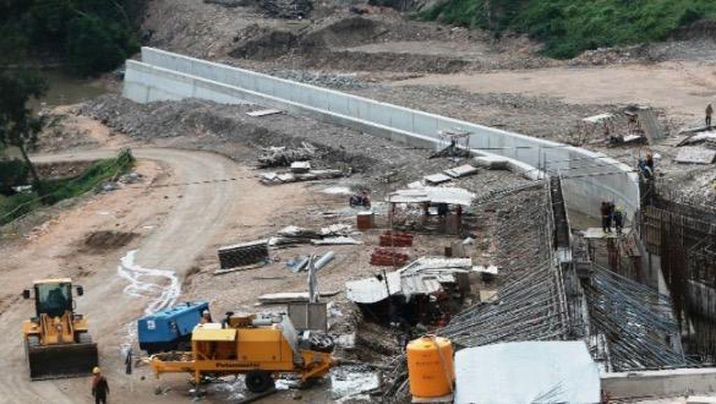 Dikebut, Pembangunan Bendungan Raknamo Capai 67,9%