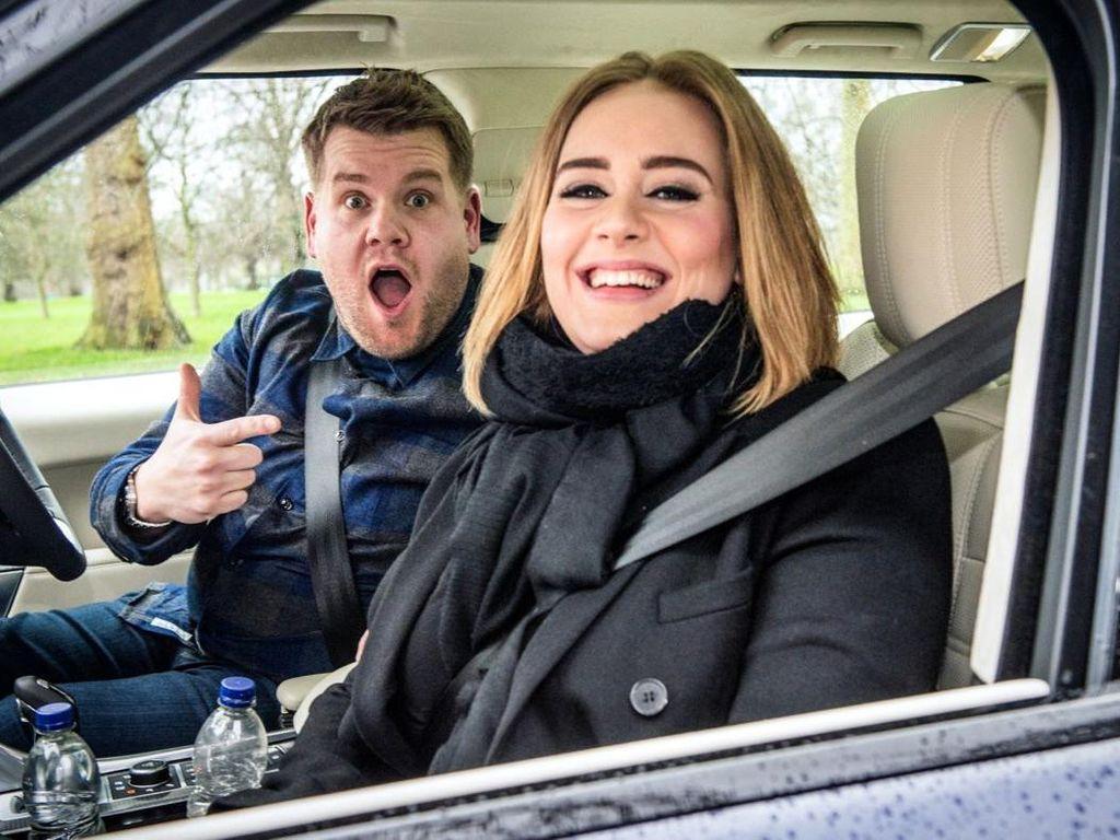 Video Carpool Karaoke Adele Paling Viral di YouTube Sepanjang 2016