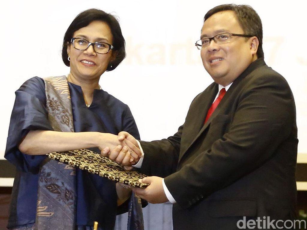 Sertijab Menkeu dari Bambang Brodjo ke Sri Mulyani