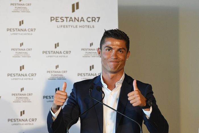 FUNCHAL, MADEIRA, PORTUGAL - JULY 22: Cristiano Ronaldo during the opening of the new Pestana CR7 Funchal Hotel owned by Cristiano Ronaldo on July 22, 2016 in Funchal, Madeira, Portugal. (Photo by Octavio Passos/Getty Images)