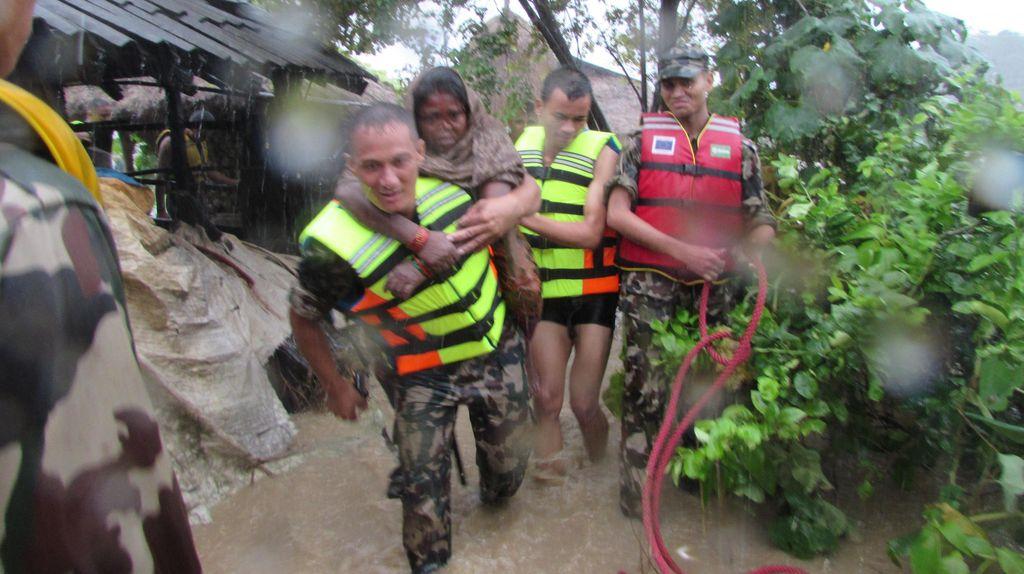 Banjir Dahsyat Terjang Nepal