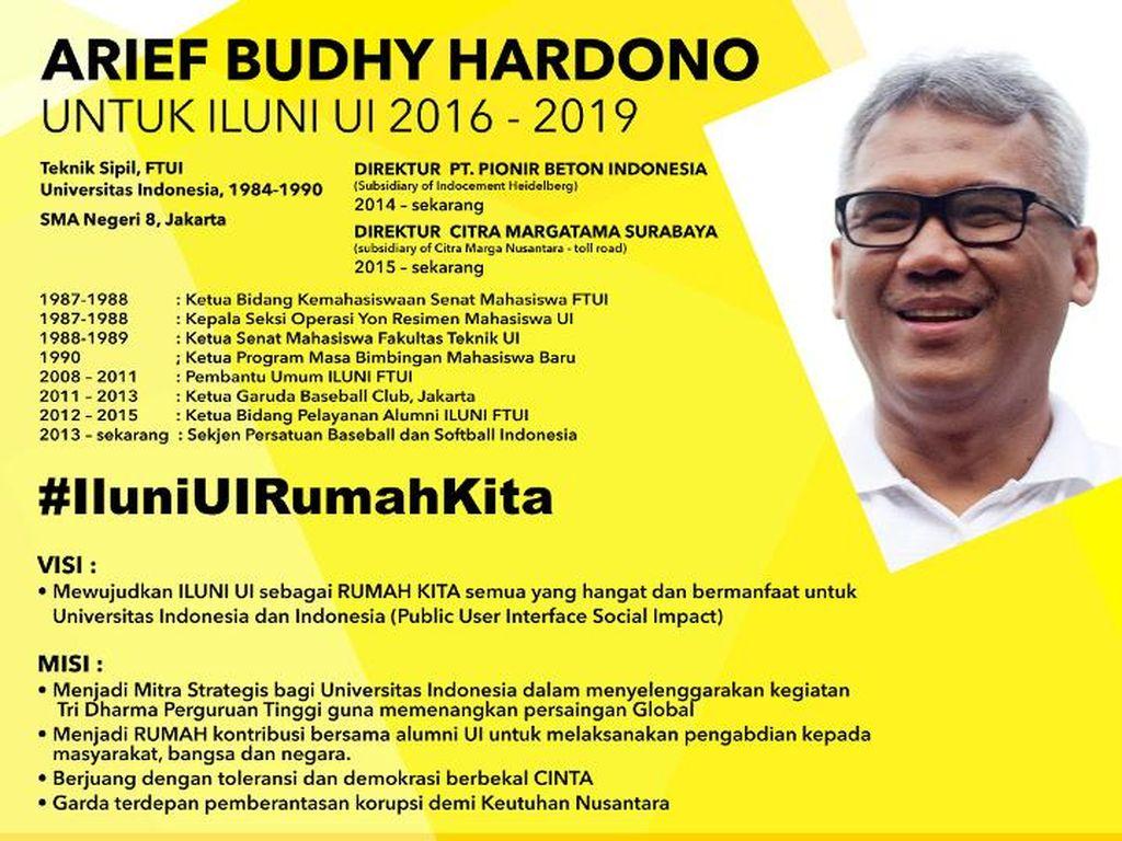 Arief B Hardono Terpilih Sebagai Ketua Ikatan Alumni UI