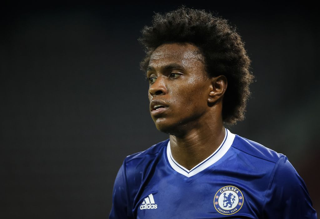 VELDEN, AUSTRIA - JULY 20: Willian of Chelsea looks on during the friendly match between WAC RZ Pellets and Chelsea F.C. at Worthersee Stadion on July 20, 2016 in Velden, Austria. (Photo by Srdjan Stevanovic/Getty Images)