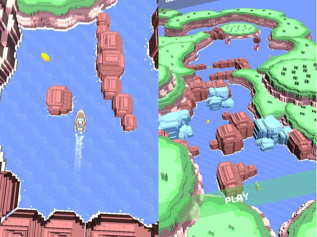 Ocean Drift, Game Sederhana yang Bikin Frustasi