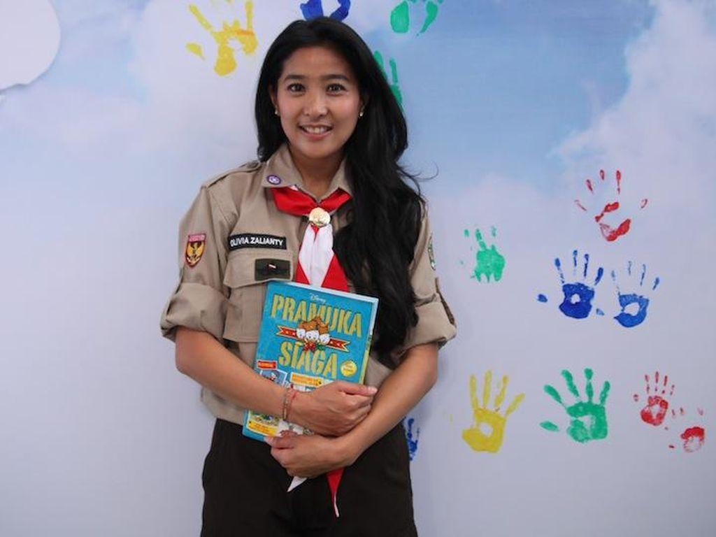 Olivia Zalianty Senang Kegiatan Pramuka Bisa Jadi Inspirasi Anak-anak