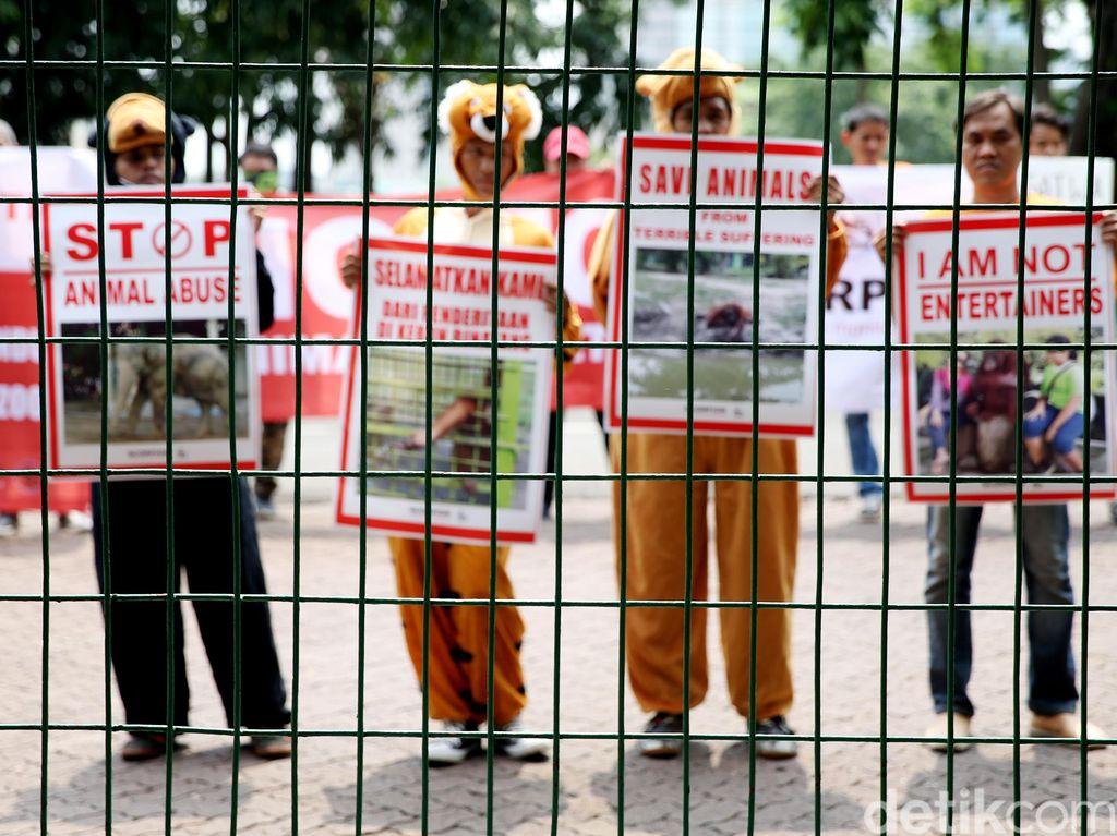 Aksi Stop Eksploitasi Satwa