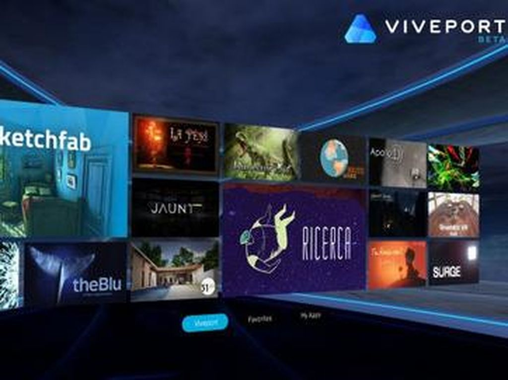 HTC Resmikan Gudang Konten VR Viveport
