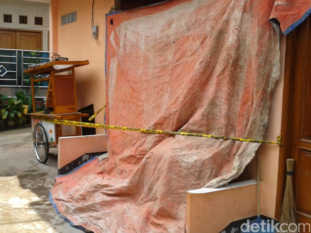 Rumah yang Terbakar Akibat Ledakan Gas di Ps Minggu Milik Pedagang Jamu