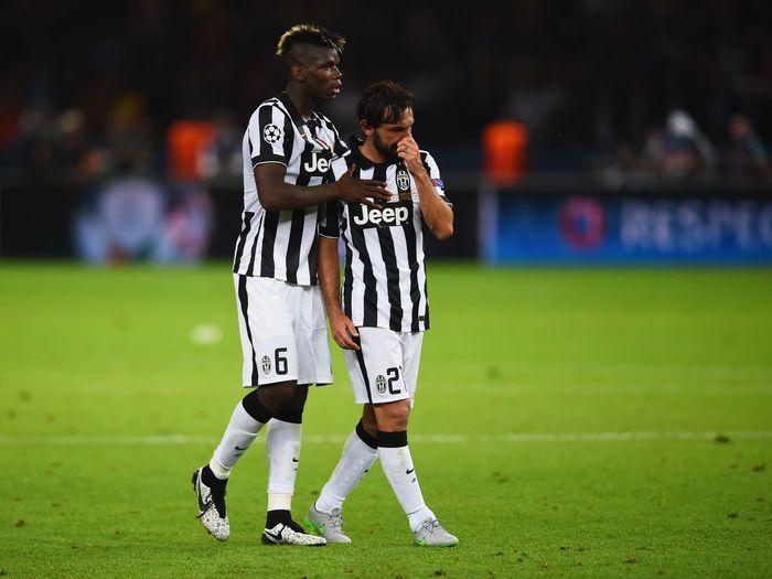 Andrea Pirlo dan Paul Pogba yang didapat Juventus gratis (Getty Images Sport/Laurence Griffiths)