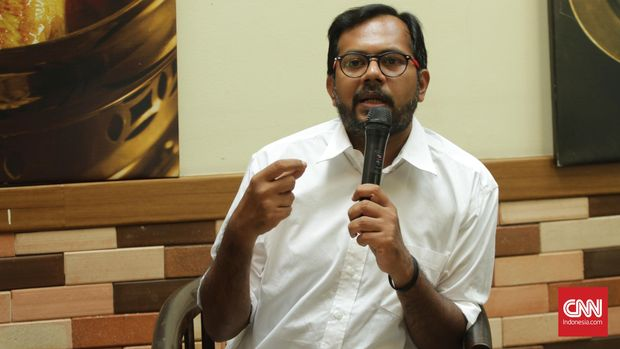 Koordinator Kontras Haris Azhar. CNN Indonesia/Gautama Padmacinta.