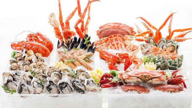 Ilustrasi Hidangan Seafood