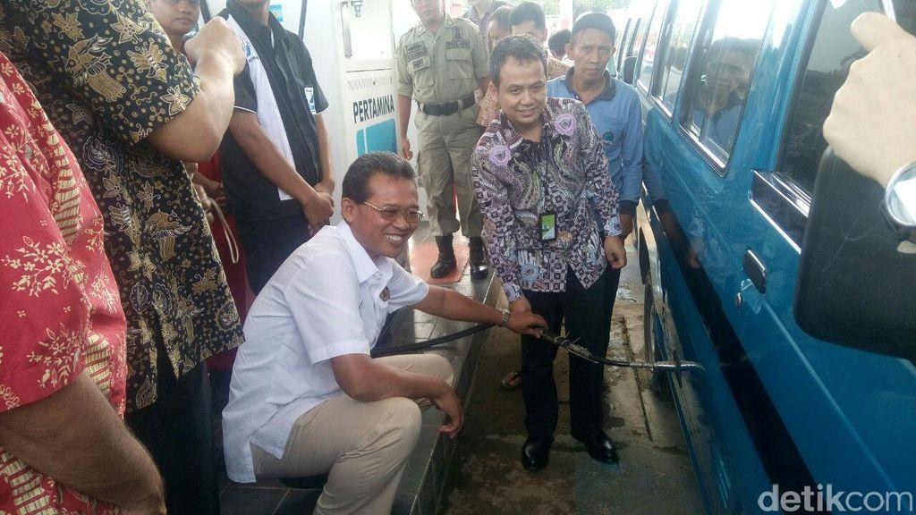 Pakai BBG, Sopir Angkot di Bogor Irit Rp 100.000/Hari