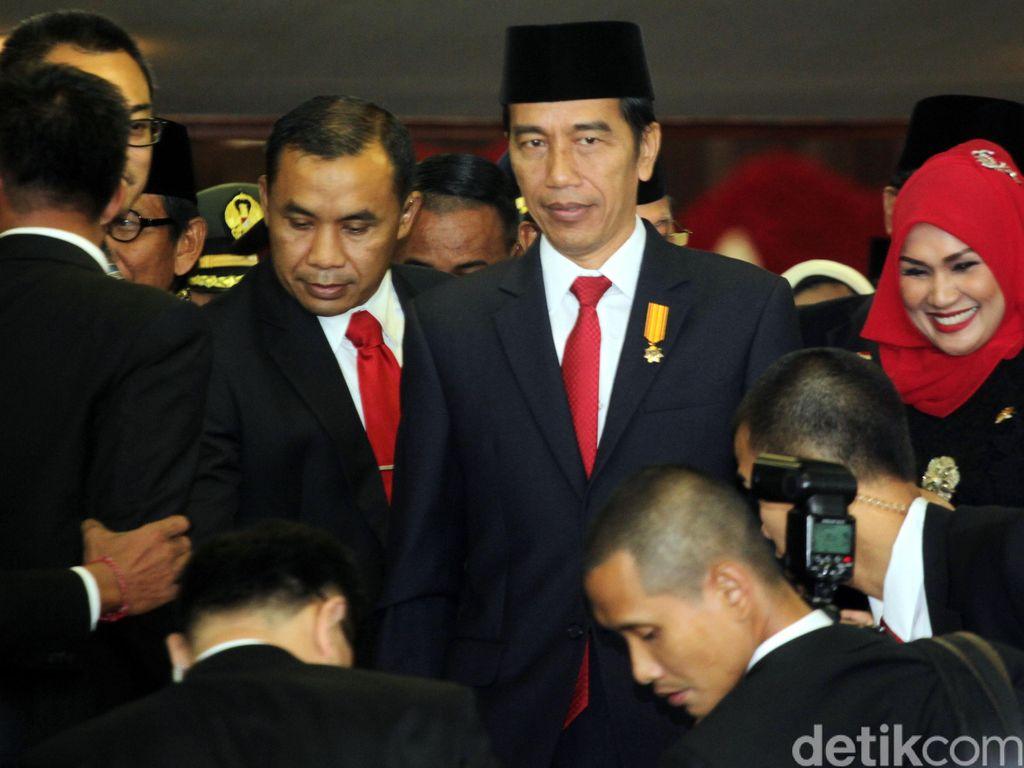 Presiden Jokowi Tinggalkan Kompleks Parlemen