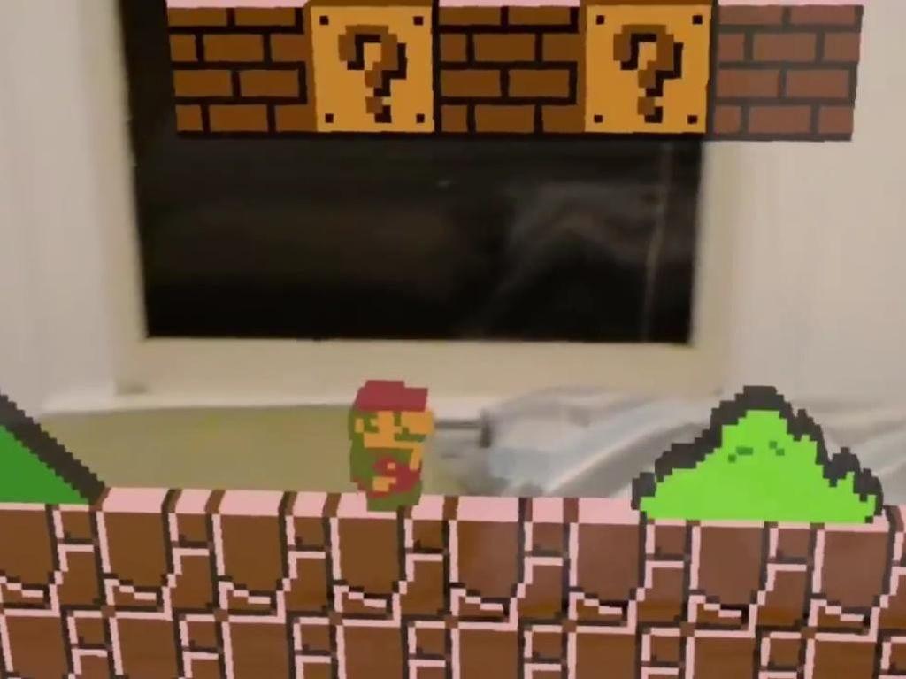Mario Bros dan Donkey Kong Invasi HoloLens