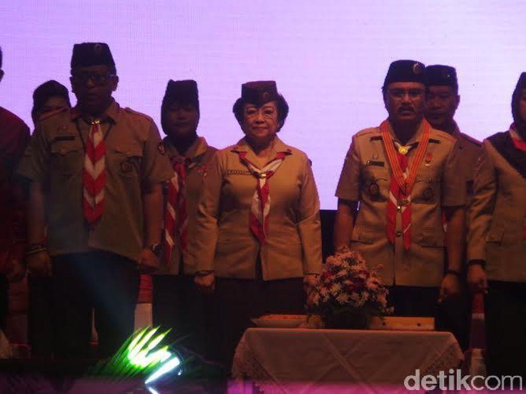 Dapat Penghargaan Tertinggi Pramuka, Megawati: Ini Bukan Untuk Saya