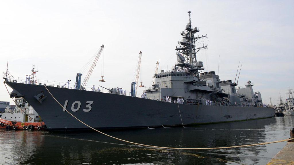 2 Kapal AL Jepang Merapat ke Jakarta