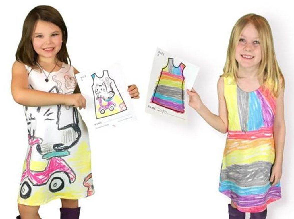 Brand Fashion Ini Pakai Coretan Anak-anak untuk Jadi Desain Baju