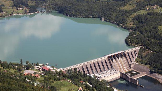 Ilustrasi pembangkit listrik tenaga air