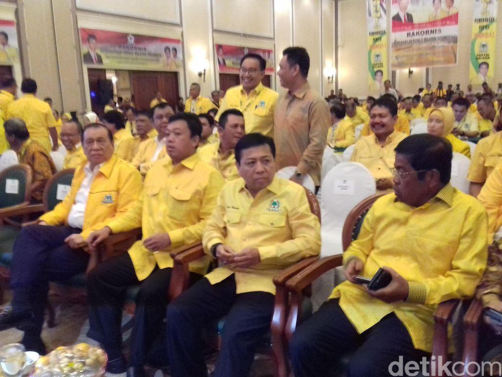Rakornas Pemenangan Pemilu, Ketum Golkar Siapkan Bukti Hasil Kinerja Ahok