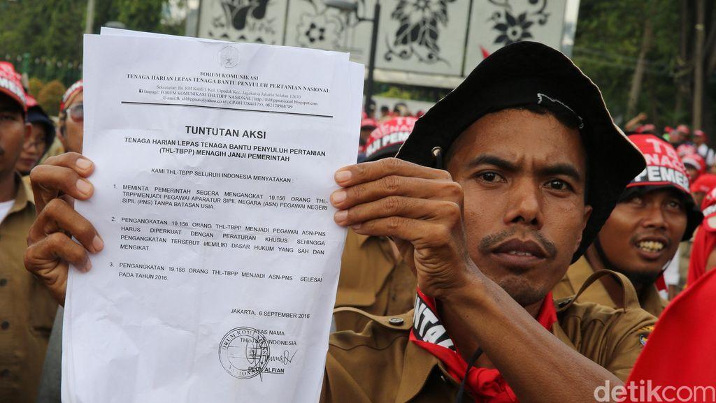 Minta Jadi PNS, Penyuluh Pertanian Demo Istana