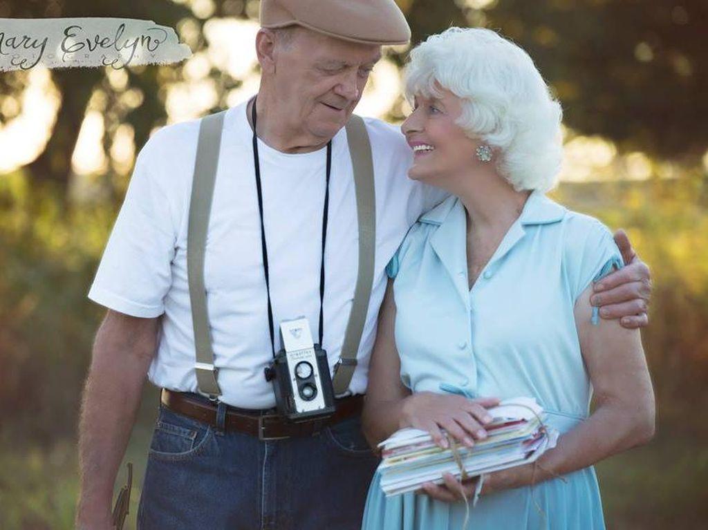Viral, Foto Pasangan Menikah 57 Tahun Pemotretan Ala The Notebook