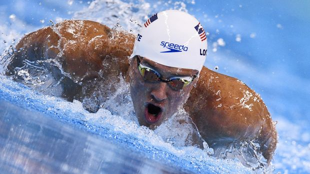 (FILES) This file photo taken on August 10, 2016 shows USA's Ryan Lochte as he competes in the Men's 200m Individual Medley heat during the swimming event at the Rio 2016 Olympic Games at the Olympic Aquatics Stadium in Rio de Janeiro.  US swimming star Ryan Lochte will look to turn the page after his drunken hijinks at the Rio Olympics cost him lucrative endorsements -- by appearing on the reality TV show