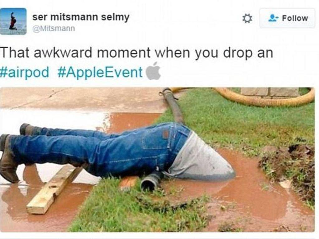 Meme Sindiran Apple AirPods