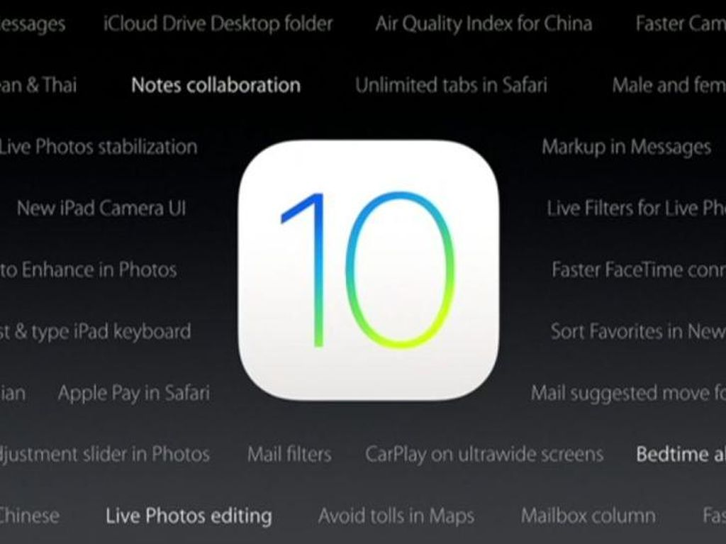 iOS 10 Telah Menguasai Perangkat Apple