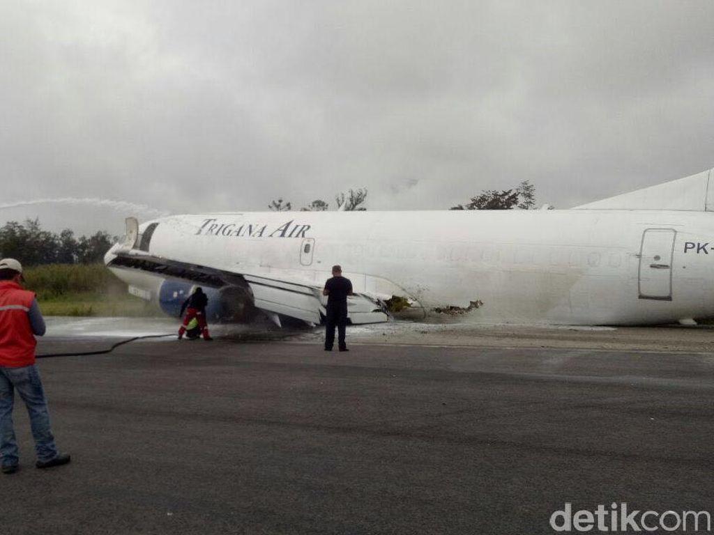 Pesawat Trigana yang Tergelincir di Wamena Buatan Tahun 1986