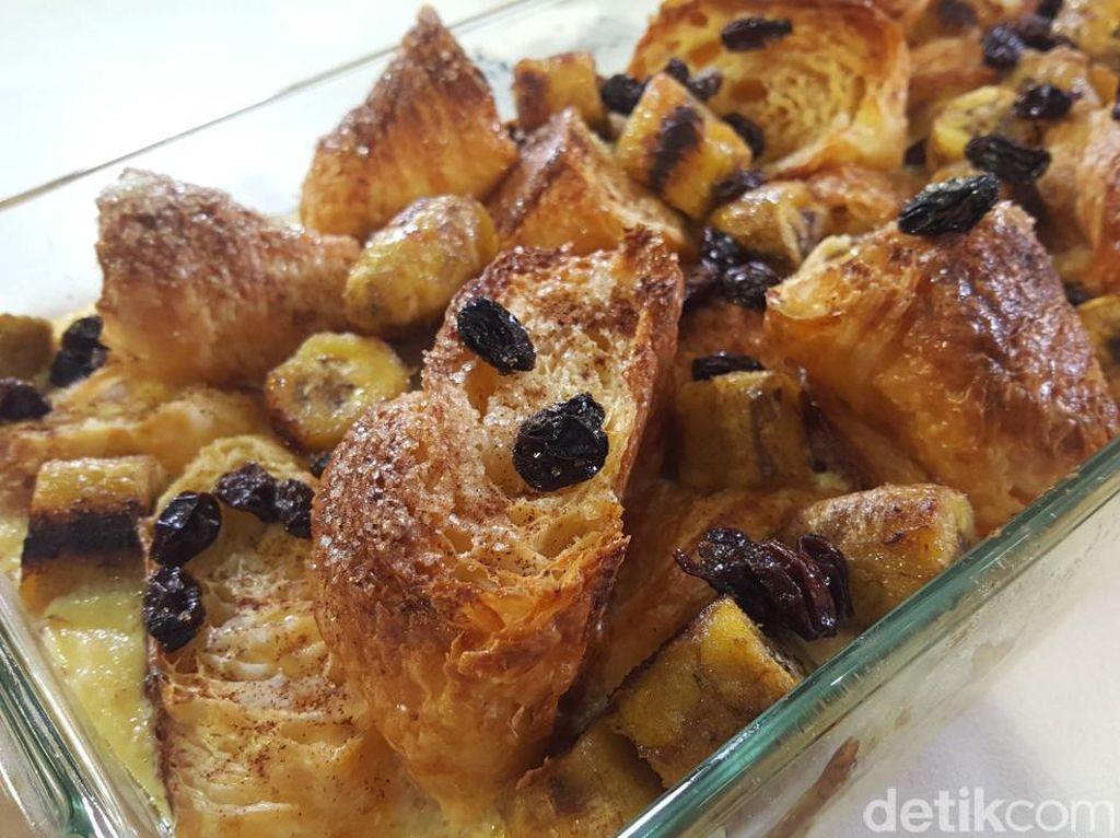 Resep Camilan : Puding Croissant Pisang