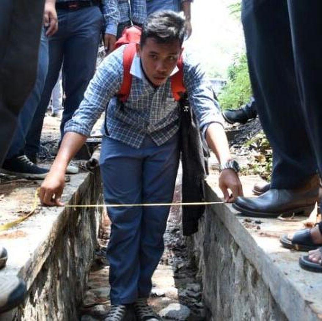 Pelajar Purwakarta Praktek Menghitung Pembangunan Jalan