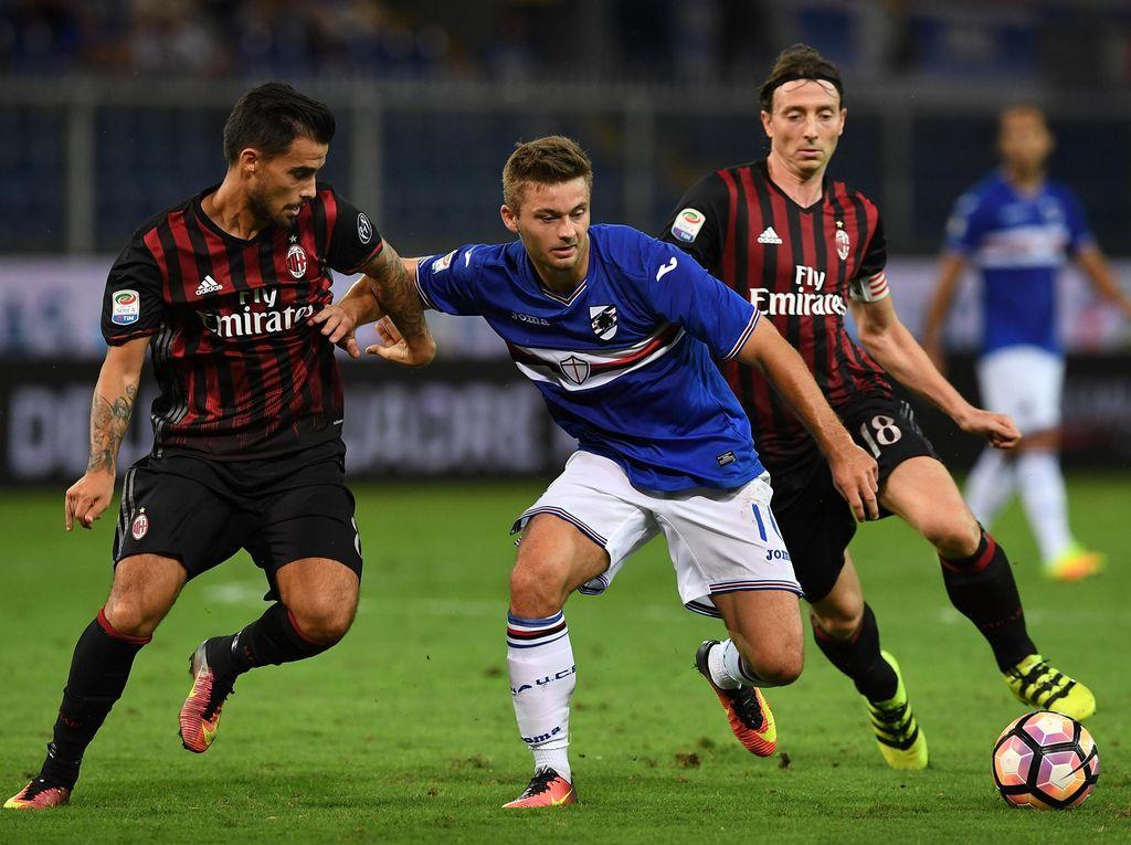 Gol Bacca di Menit-Menit Akhir Menangkan Milan atas Sampdoria