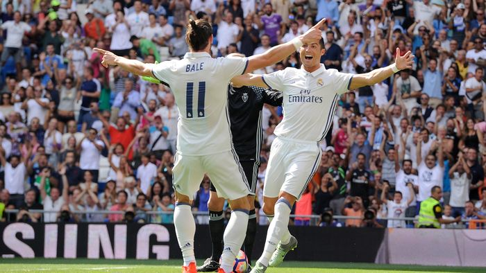 Gareth Bale mengaku tak pernah punya masalah dengan Cristiano Ronaldo (Foto: Denis Doyle/Getty Images)