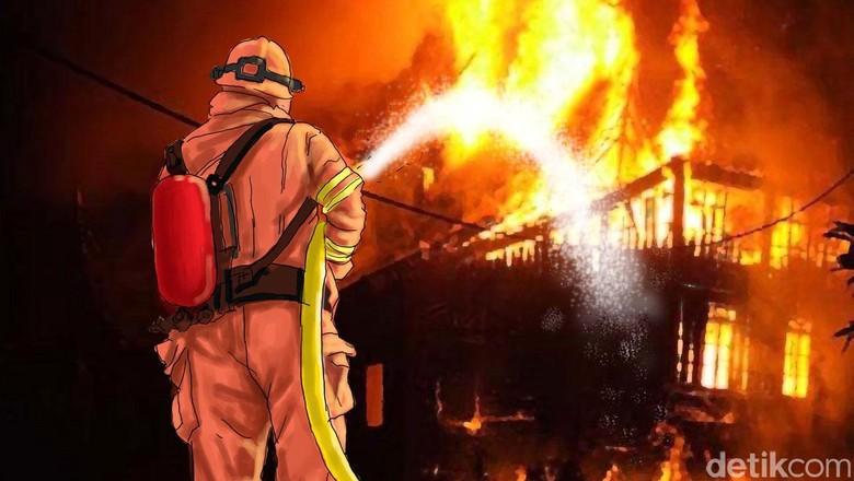 asrama-brimob-slipi-petamburan-terbakar