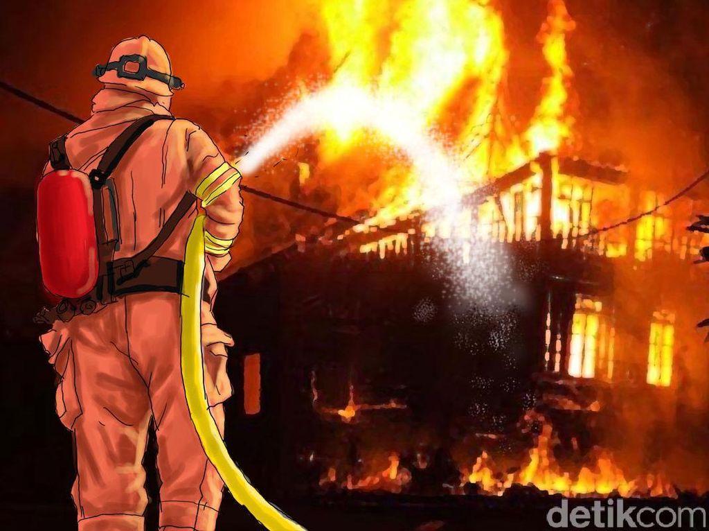 2 Rumah di Lokasi Banjir Bekasi Kebakaran, 4 Unit Damkar Dikerahkan