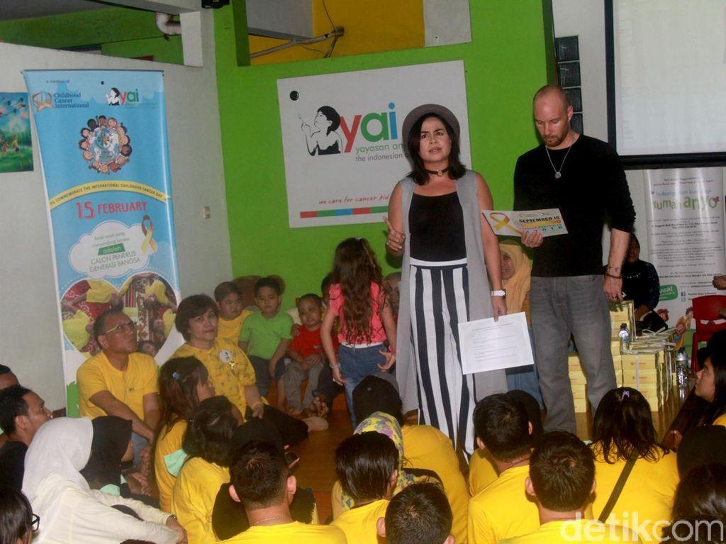 Aksi Sosial Melaney Ricardo Untuk Anak-anak Penderita Kanker