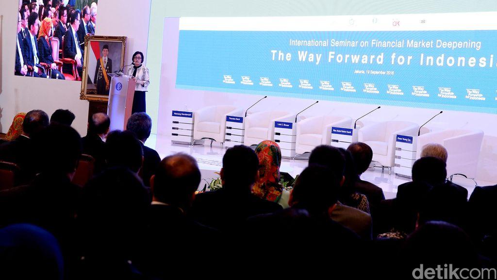 Sri Mulyani Hadiri Seminar Keuangan Internasional